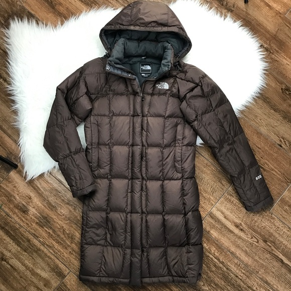 d11ea786c The North Face • 600 Brown Hooded Down Jacket Coat